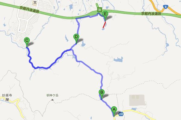 万寿峠の周辺地図