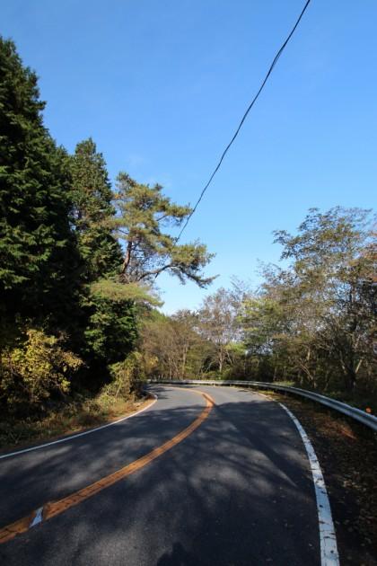 アセボ峠のコーナー