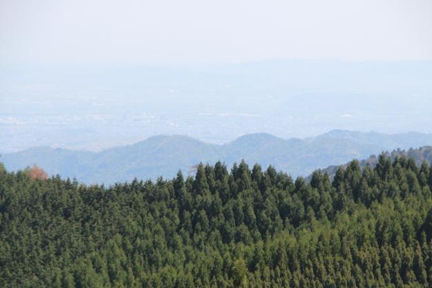 ダルマ峠から見える山並み