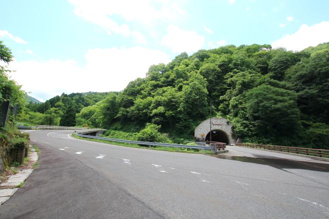 八草峠への岐阜県側からの経路