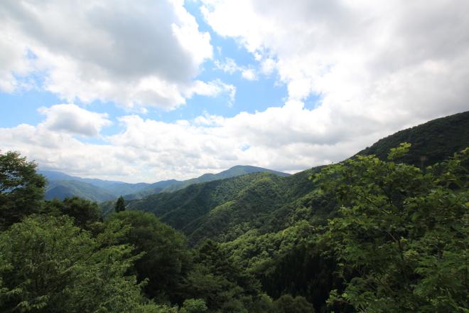 林道ホハレ線の眺望