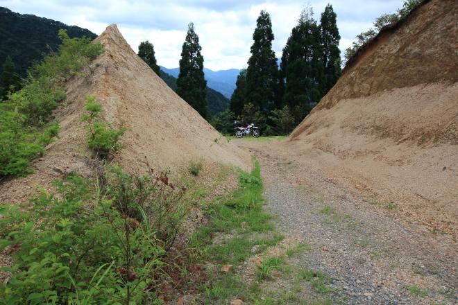 林道ホハレ線の拡張工事