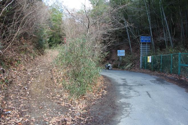 清阪峠の旧道