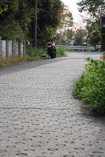 木屋峠の路面