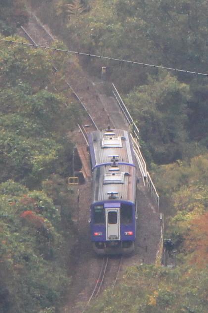 木屋峠と電車