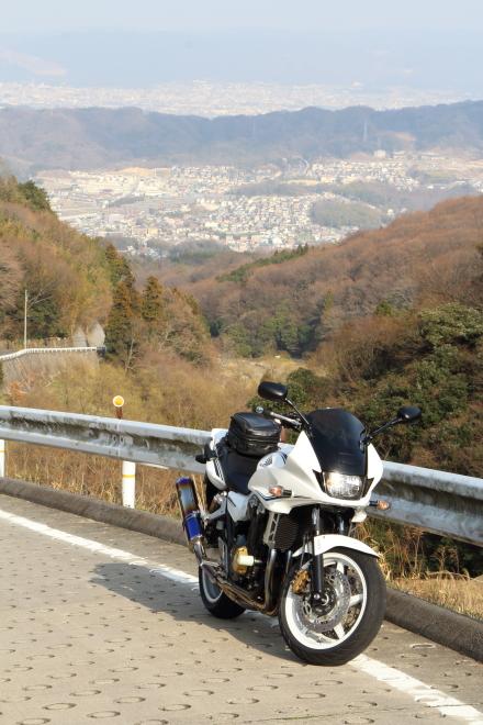暗峠の奈良側の眺望