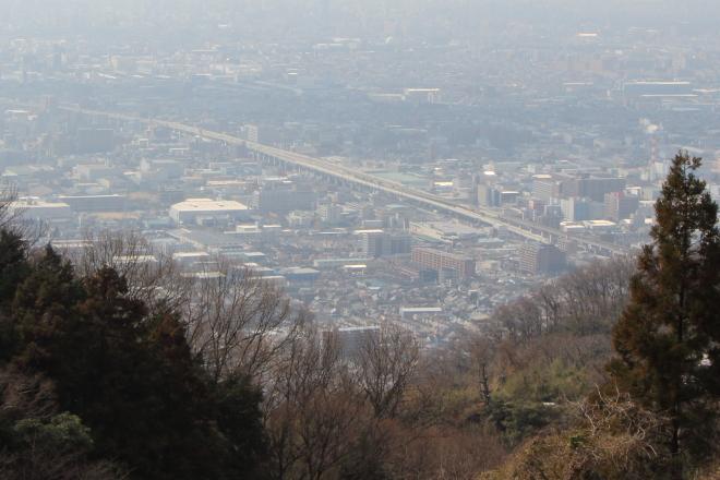 暗峠の大阪側の眺望