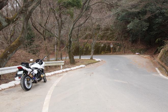 旧長坂峠とCB1300SB