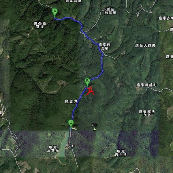 上ノ水峠の地図