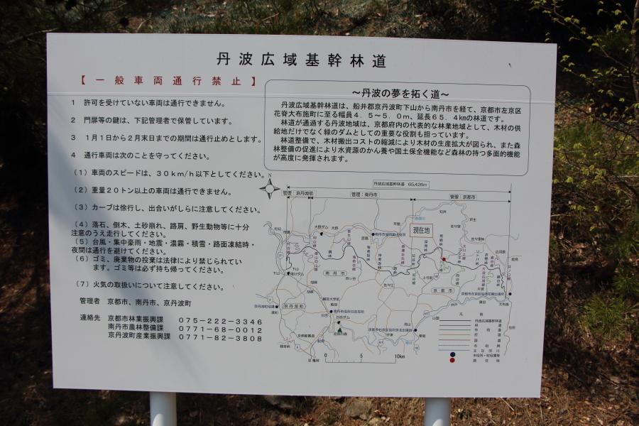 丹波広域基幹林道の看板
