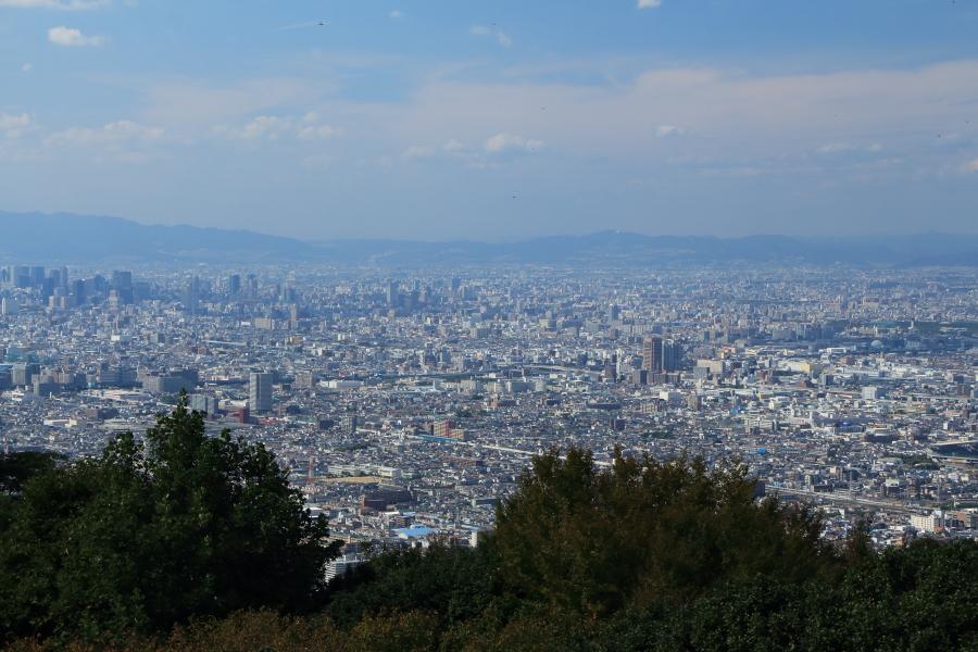 大阪平野が一望