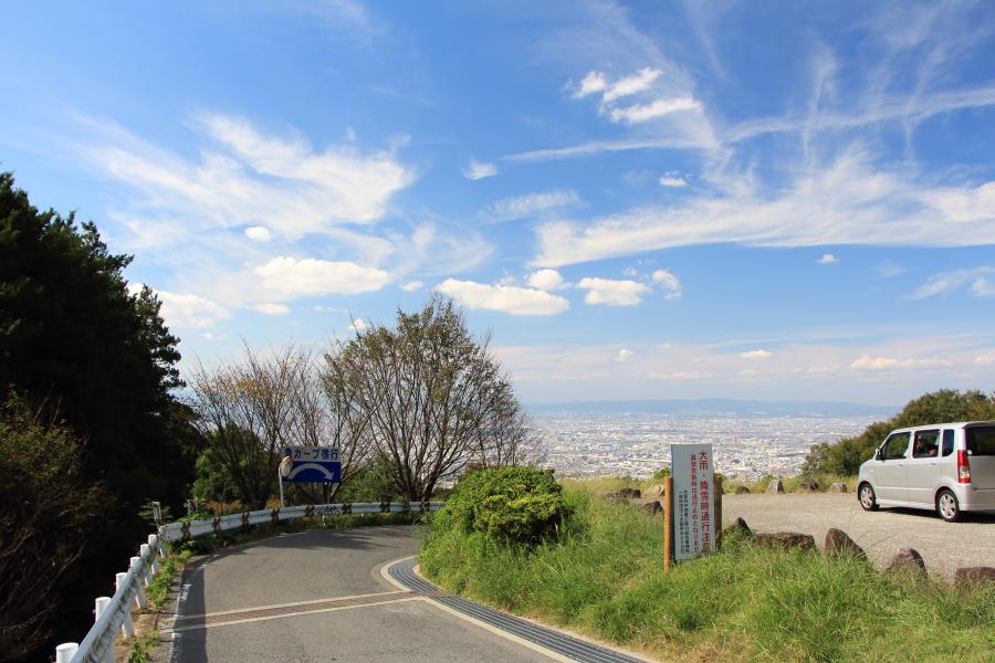 大阪平野の眺望
