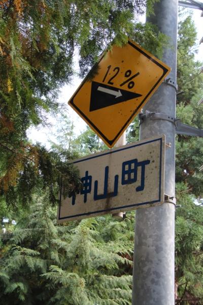 神山町の勾配率の標識