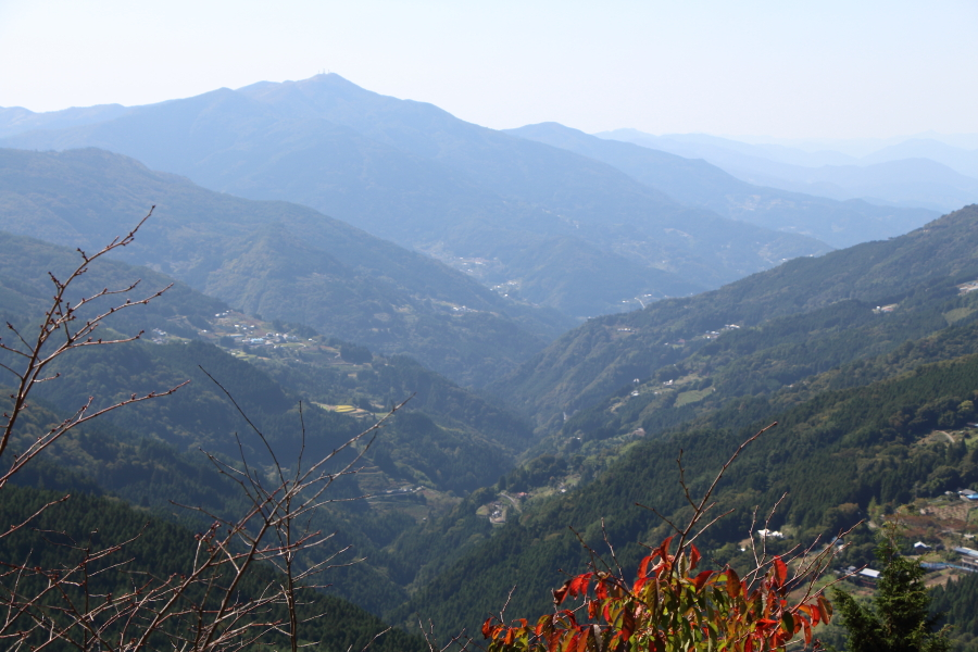 京柱峠、東方の眺望