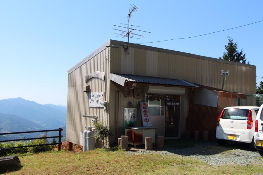 京柱峠の饂飩屋