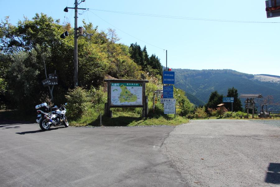 徳島県側から見た京柱峠の全景