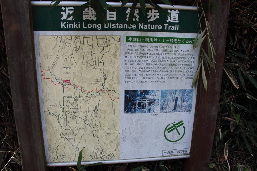 近畿自然歩道コース案内板