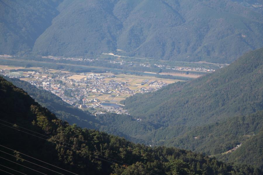桟敷峠からの眺望
