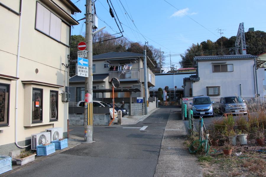 旧京街道(橋本駅裏)