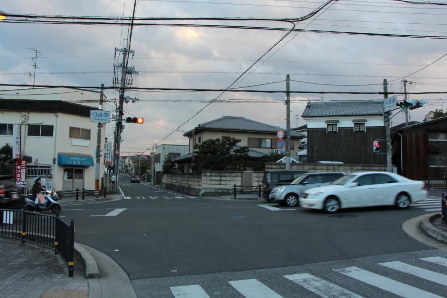 月夜田の交差点