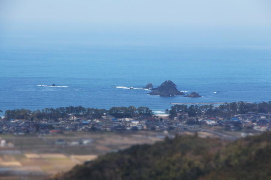 福谷坂峠から見た若狭湾