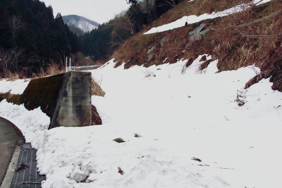 雪の堀越峠への別ルート
