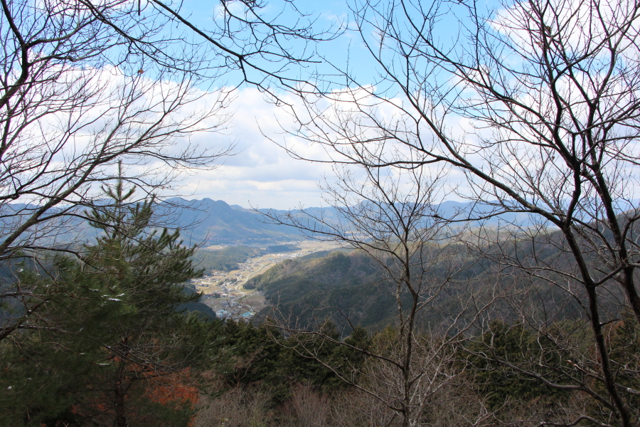 三春峠の眺望