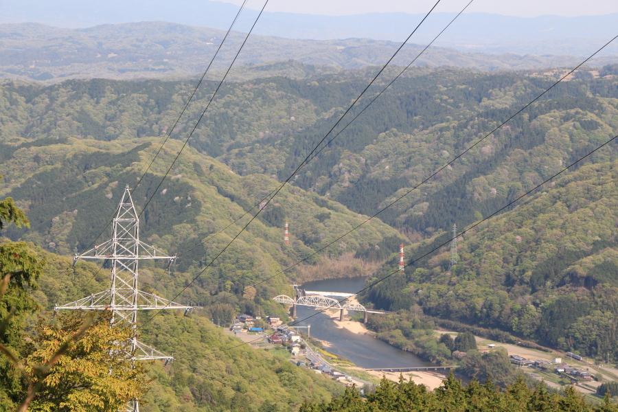 林道野田線からの木津川の眺望