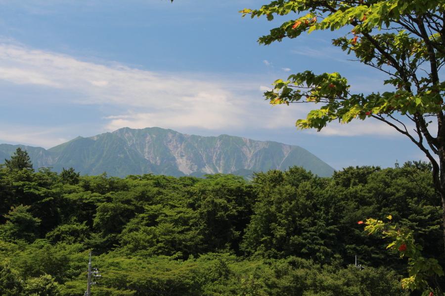 一息坂峠から見た大山