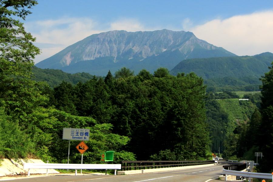 内海乢(内海峠)と大山