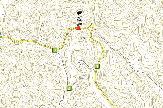 寺坂峠の周辺地図