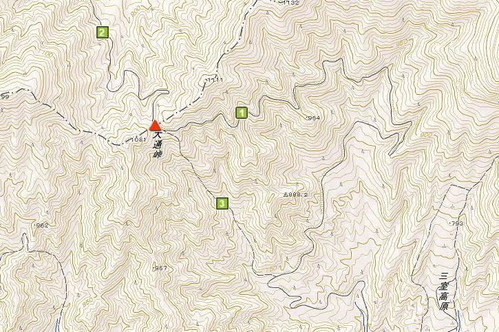 大通峠の地図