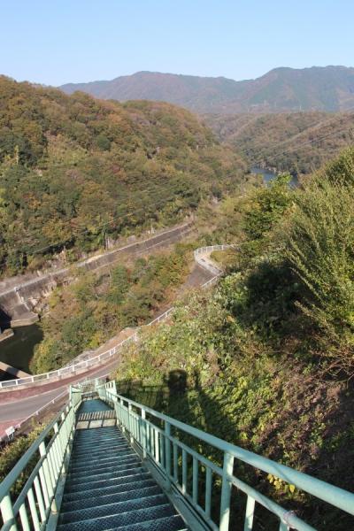 高山ダムから下部を覗く