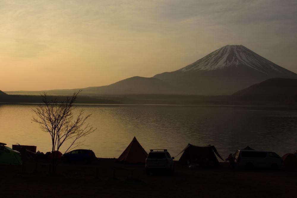 夕日の洪庵キャンプ場